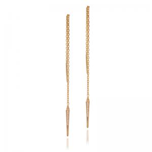 Stick chain earrings-0