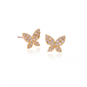 Pave butterfly earring-0