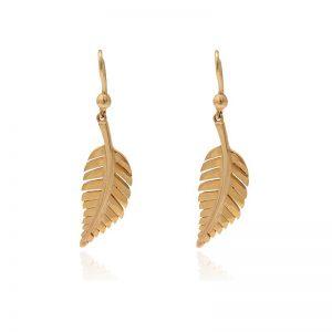 Golden leaf earrings-0