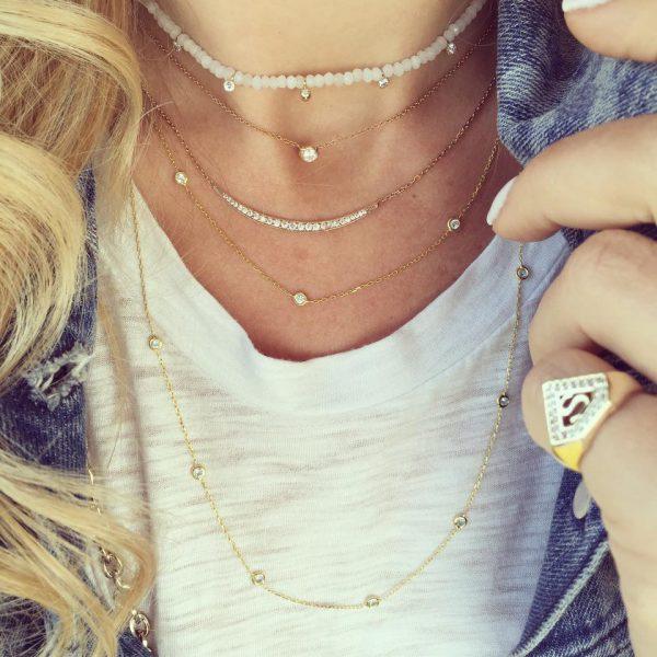 Mono Jasmin stone necklace-864
