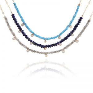 Natural stone elements nacklace-0