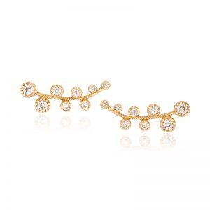 Stone point earrings-0