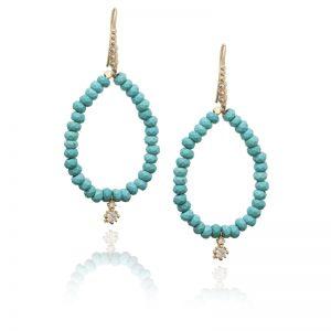 Turquoise drop earrings-0