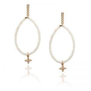 White stone Earrings-0