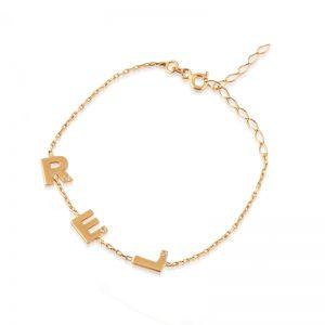 Initial Stone Bracelets-0