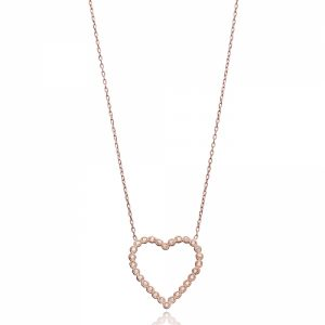 B Heart necklace-1759